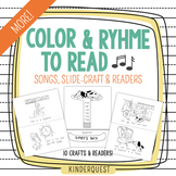 Kindergarten Reading: MORE Color and Rhyme to Read