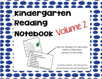 Kindergarten Reading Notebook 2