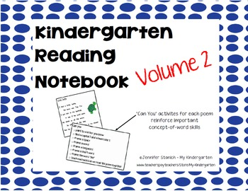 Kindergarten Reading Notebook 2