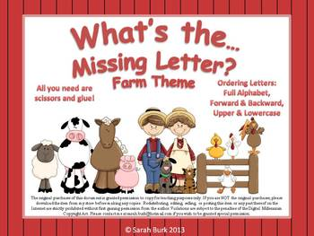 Kindergarten Reading: Ordering Letters {Farm}