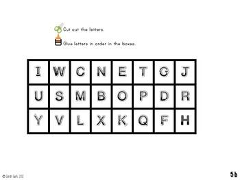 Kindergarten Reading: Ordering Letters {Summer} - FREE