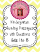 Kindergarten Reading Passages with Comprehension Questions DORF