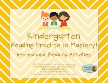 Kindergarten Reading Practice to Mastery Common Core Informational Reading