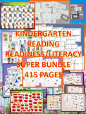 Kindergarten Reading Readiness/Literacy Super Bundle 415 Pages