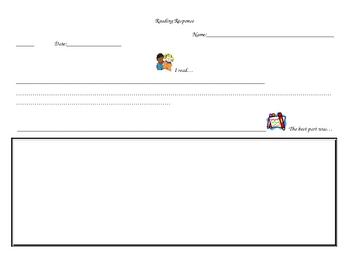 Kindergarten Reading Response