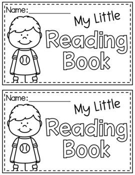 Kindergarten Reading Response Booklet