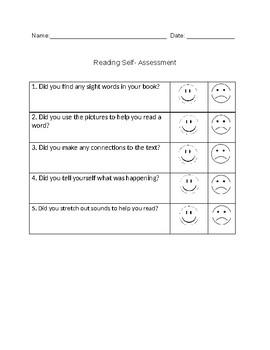 Kindergarten Reading Self-Assessment