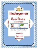 Kindergarten Guided Reading:  Emergent Reader CVC Words