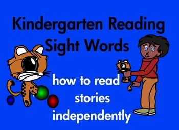 Kindergarten Reading Sight Words and 21 Stories Common Core Based (printable)