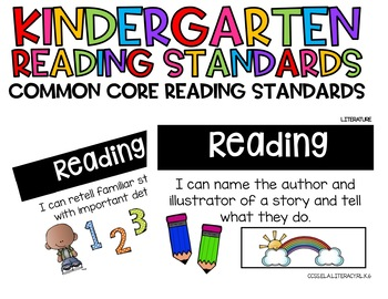 Kindergarten Reading Standards: Literature and Informational Texts