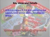 Kindergarten Reading Standards for Literature Flashcards