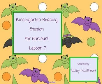 Kindergarten Reading Station for Harcourt Lesson 7