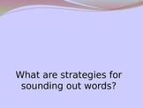 Kindergarten Reading Strategies