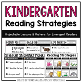 Kindergarten Reading Strategies: Lessons + Posters for Eme