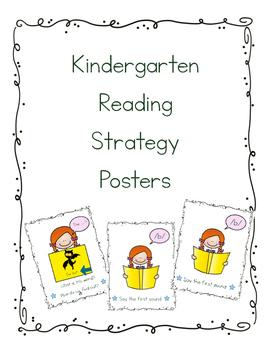 Kindergarten Reading Strategy Posters