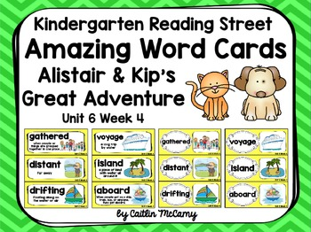 Kindergarten Reading Street Amazing Word Cards Alistair and Kip