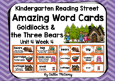 Kindergarten Reading Street Amazing Word Cards Goldilocks and the Three Bears