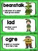 Kindergarten Reading Street Amazing Word Cards Jack and the Beanstalk