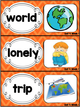 Kindergarten Reading Street Amazing Word Cards Rooster's Off to See the World