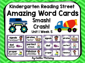 Kindergarten Reading Street Amazing Word Cards Smash! Crash!