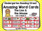 Kindergarten Reading Street Amazing Word Cards The Lion and the Mouse