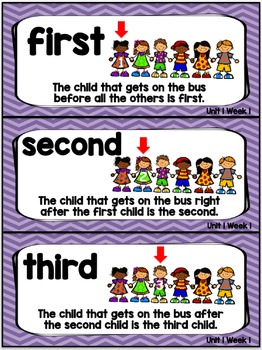 Kindergarten Reading Street Amazing Word Cards The Little School Bus