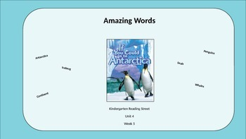 Kindergarten Reading Street Amazing Words. Unit 4 Week 5