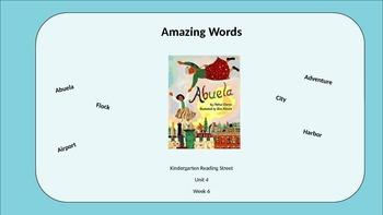 Kindergarten Reading Street Amazing Words. Unit 4 Week 6