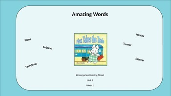 Kindergarten Reading Street Amazing Words. Unit 5 Week 1
