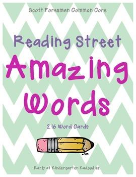 Kindergarten Reading Street Amazing Words Units 1-6