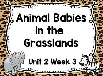 Kindergarten Reading Street Animal Babies in Grasslands Un