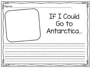 Kindergarten Reading Street Companion Antarctica Writing Prompt