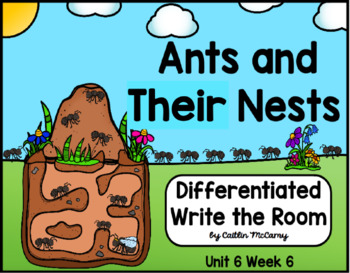 Kindergarten Reading Street: Ants and Their Nests Write the Room