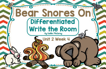 Kindergarten Reading Street: Bear Snores On Write the Room
