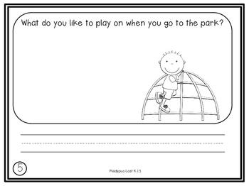 Kindergarten Reading Street Daily Journal Prompts