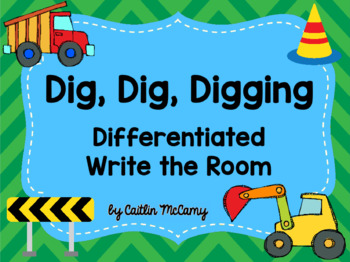 Kindergarten Reading Street: Dig, Dig, Digging Write the Room