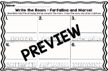 Kindergarten Reading Street: Farfallina & Marcel Write the Room