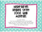 Kindergarten Reading Street Focus Wall Materials