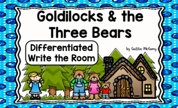 Kindergarten Reading Street: Goldilocks & the Three Bears Write the Room