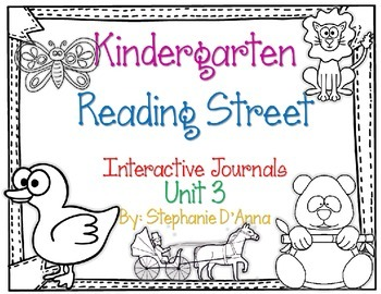Kindergarten Reading Street Interactive Journal Unit 3