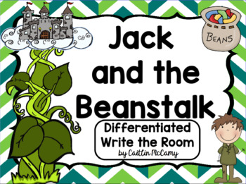 Kindergarten Reading Street: Jack & the Beanstalk Write the Room
