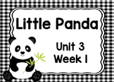 Kindergarten Reading Street Little Panda Unit 3 Week 1 Flipchart