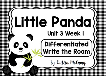 Kindergarten Reading Street: Little Panda Write the Room