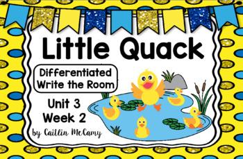 Kindergarten Reading Street: Little Quack Write the Room
