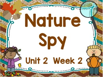 Kindergarten Reading Street Nature Spy Unit 2 Week 2 Flipchart