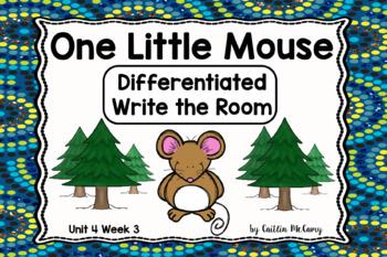 Kindergarten Reading Street: One Little Mouse Write the Room