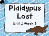 Kindergarten Reading Street Plaidypus Lost Unit 1 Week 3 Flipchart