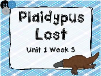Kindergarten Reading Street Plaidypus Lost Unit 1 Week 3 Flipchart
