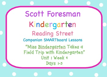 Kindergarten Reading Street SMARTboard Companion U1W4 Miss Bindergarten