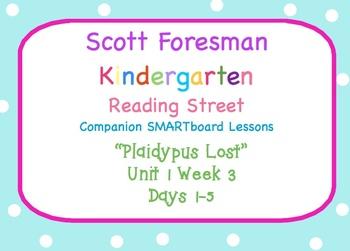 Kindergarten Reading Street SMARTboard Companion U1W3 Plaidypus Lost